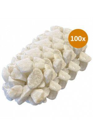 100 x 10kg Siersteen Premium White 30-40mm