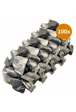 100 x 10kg Siersteen Premium Zebra 30-40mm