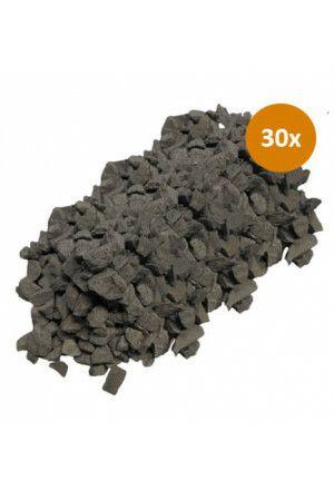 30 x 20kg Garden Elements Basalt Split 8-16
