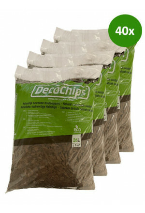 40 x 35L DecoChips Houtsnippers Brown