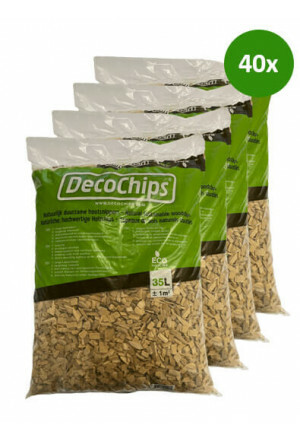 40 x 35L DecoChips Houtsnippers Naturel