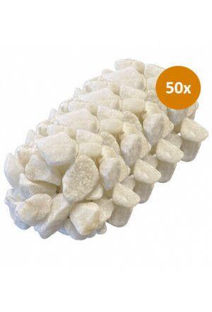 50 x 10kg Siersteen Premium White 30-40mm