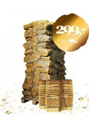 72 zakken luchtgedroogd mixhout + 3 zakken aanmaakhout
