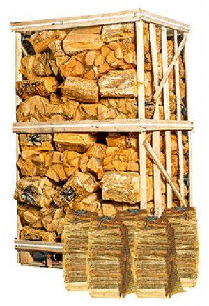 Berkenhout in netten + 5 zakken aanmaakhout