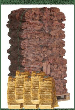 76 zakken elzenhout + 5 zakken aanmaakhout