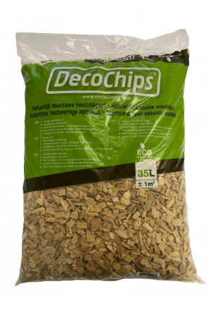 DecoChips Houtsnippers Naturel 35L