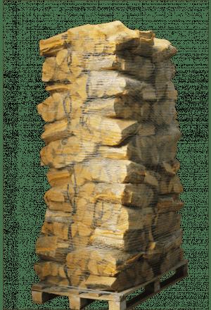 80 zakken ovengedroogd eikenhout (zonder krat)