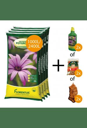 1000L of 2400L potgrond + gratis keuzeproducten