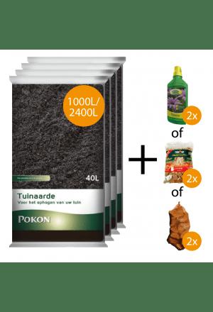 1000L of 2400L tuinaarde + gratis keuzeproducten