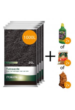 1000L tuinaarde + gratis keuzeproducten