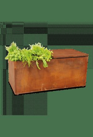 Herb Garden Bench Corten
