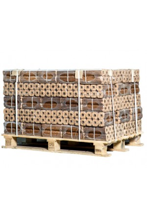 48 zakken Pini Kay briketten (achthoekig)