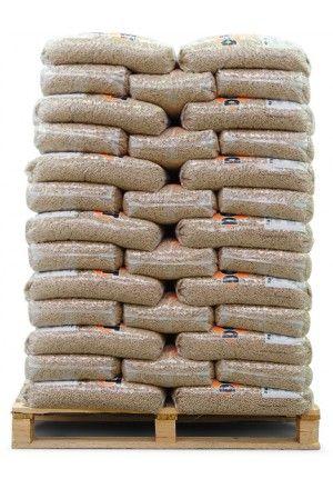 Bruine houtpellets 100 zakken a 10kg