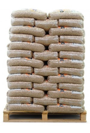 Witte Pellets ENplus A1 15 kg pallet a 66 zakken