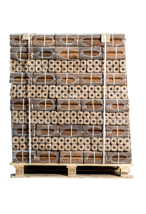 96 zakken Pini Kay briketten (achthoekig)