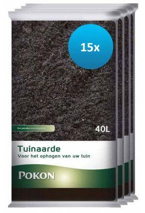 15 x 40L Pokon Tuinaarde (600 liter)