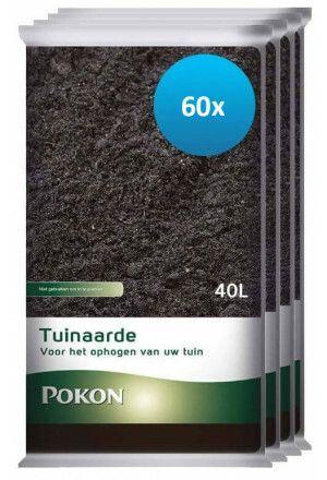 60 x 40L Pokon Tuinaarde (2400 liter)