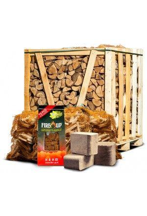 Actiepallet berkenhout + aanmaakhout + briketten