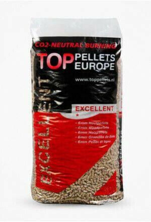 Witte pellets ENplus A1 à 15 kg, pallet à 33 zakken