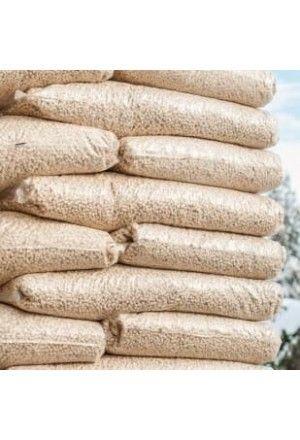 Witte houtpellets 100 zakken a 10kg