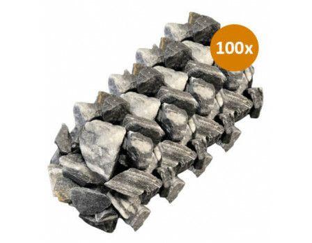 100x Royant Stone Art Zebra 30-40mm