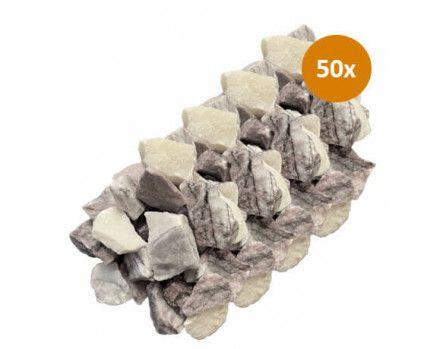 50x Royant Stone Art Purple Wave 30-40mm 10kg