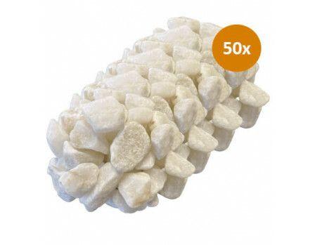 50x Royant Stone Art White 30-40mm