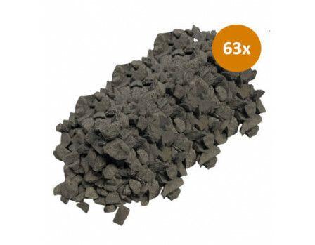 63 x Garden Elements Basalt Split 8-16 20kg