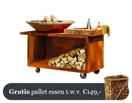 OFYR Cortenstaal Eiland Plus Thermisch Strandhouten Plank  PRO TBW