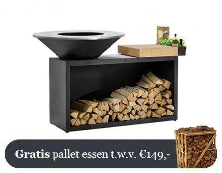 OFYR Zwart Eiland Plus Rubberhouten Plank 100-100-RW
