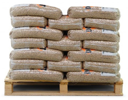 Bruine houtpellets 34 zakken a 15kg