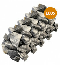 100x Royant Stone Art Zebra 30-40mm