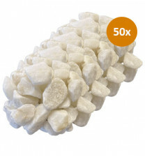 50x Royant Stone Art White 30-40mm
