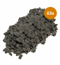 63 x Garden Elements Basalt Split 8-16 20kg