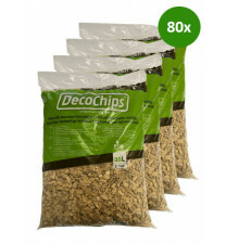 80 x 35L DecoChips Houtsnippers Naturel