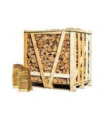Halve pallet ovengedroogd berken-essenhout + 2 zakken aanmaakhout