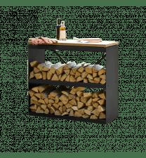 Wood Storage Dressoir Black