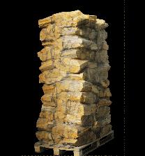 88 zakken ovengedroogd berken/essenhout (zonder krat)