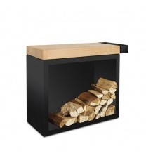 OFYR Butcher Block Storage Black