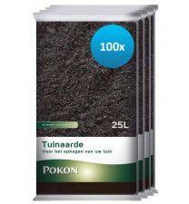 100 x 25L Pokon Tuinaarde (2500 liter)